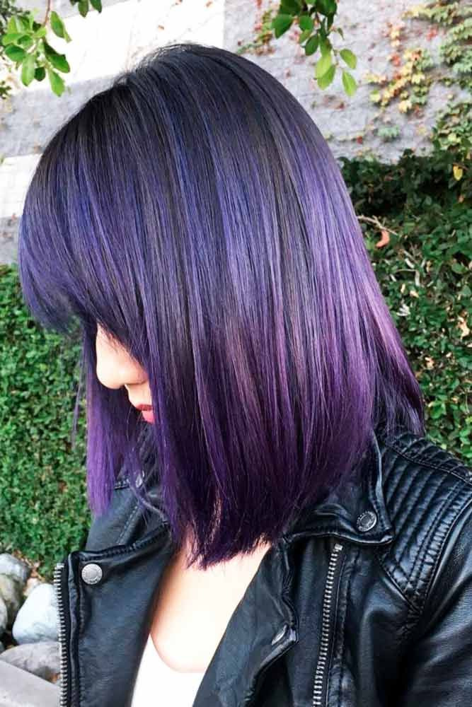 Popular Violet Purple Hair Color #purplehair ❤️ When you think about purple ...