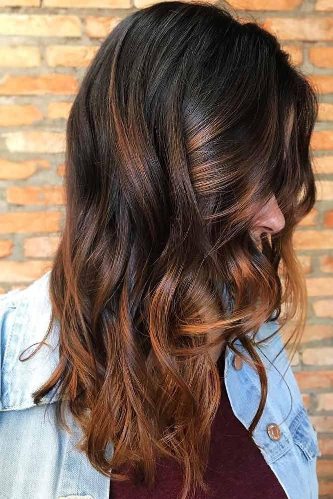 Reddish Brown Highlights Brunette #brunette #highlights #redhair  ❤️ Upgrade...