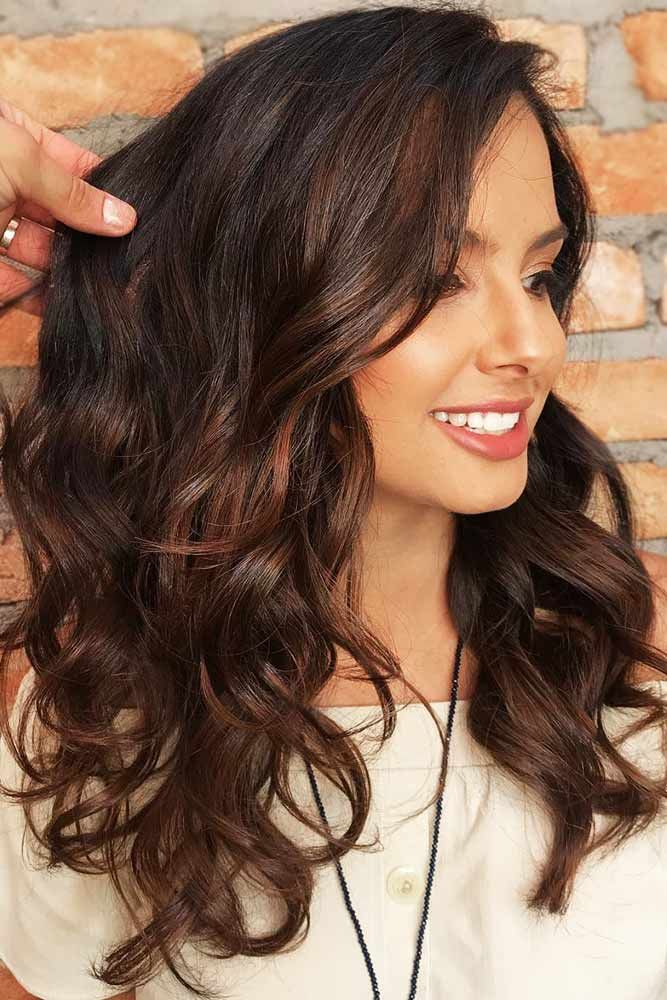 Subtle Chestnut Balayage Pieces #brunette ❤️ Upgrade your plain brown hair c...
