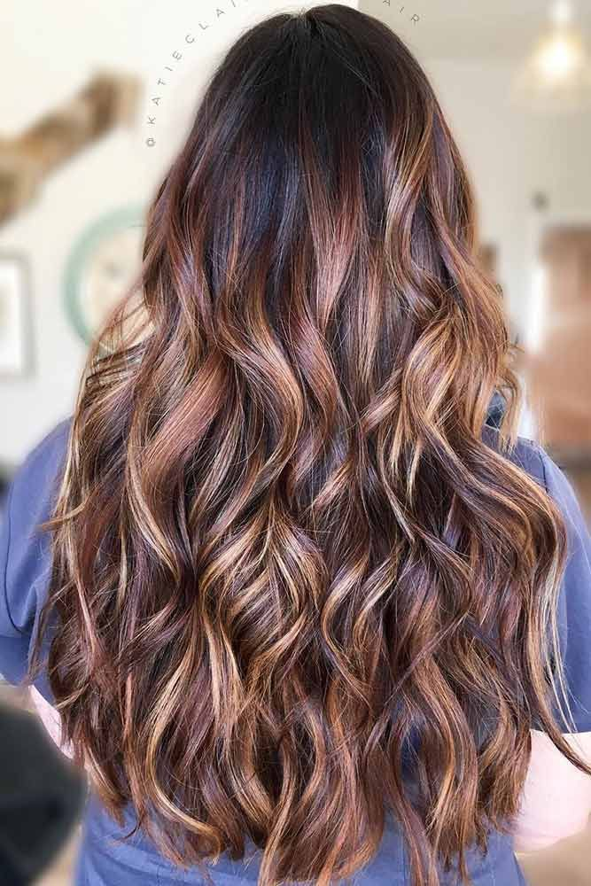 Sunkissed Brunette Black ❤️ See light brown hair color variations that suit ...