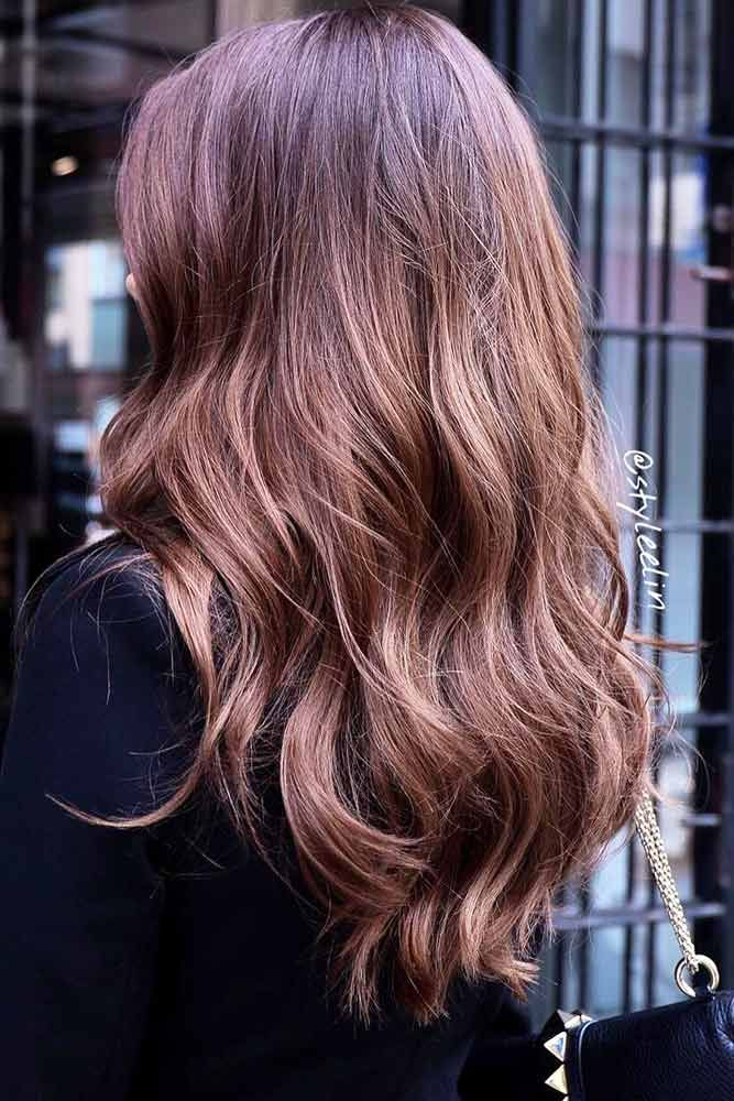 Sunkissed Brunette Chestnut ❤️ See light brown hair color variations that su...