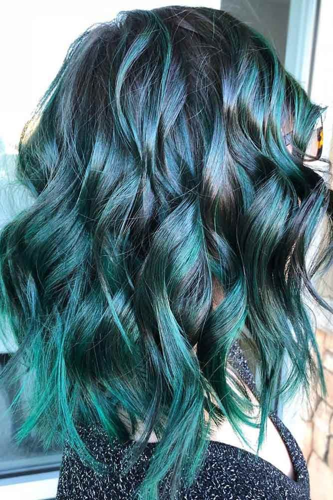 Teal With Raven Black #tealhair #brunette #highlights ❤️ What can compare to...