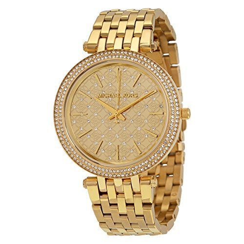 Michael Kors Women's Darci Gold-Tone Watch MK3398 -- You can find out more d...