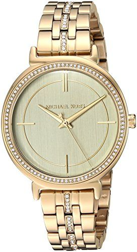 Michael Kors Womens Quartz Stainless Steel Casual Watch ColorGoldToned Model MK3...