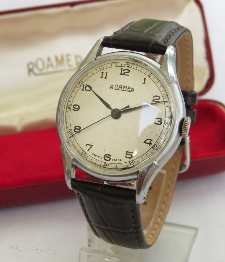 Antiques Atlas - Gents 1950s Roamer Wrist Watch, Boxed