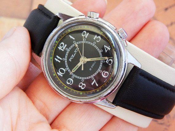 Soviet Watch Poljot Mens Watch Poljot wrist watch by SovietLegacy
