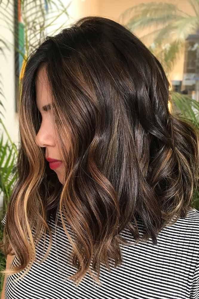 Dark Brown Hair With Honey Face Framing Highlights #brownhair #highlights  ❤...