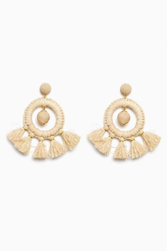 Raffia Dreamcatcher Earrings | Tuckernuck #earringfavorites #pencilandpaperco