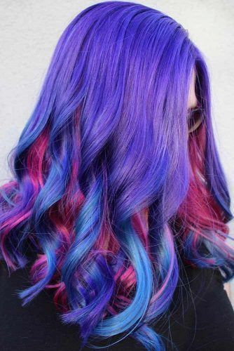 Byzantine Blue Pink #bluehair #purplehair ❤️ A blue hair color will work gre...