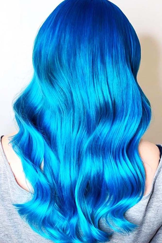 Dodger Blue #bluehair ❤️ A blue hair color will work great for women who lov...