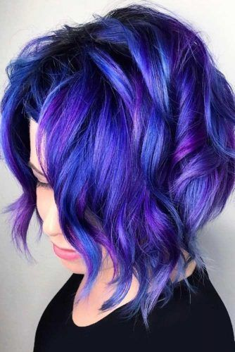 Electric Indigo Highlights #bluehair ❤️ A blue hair color will work great fo...
