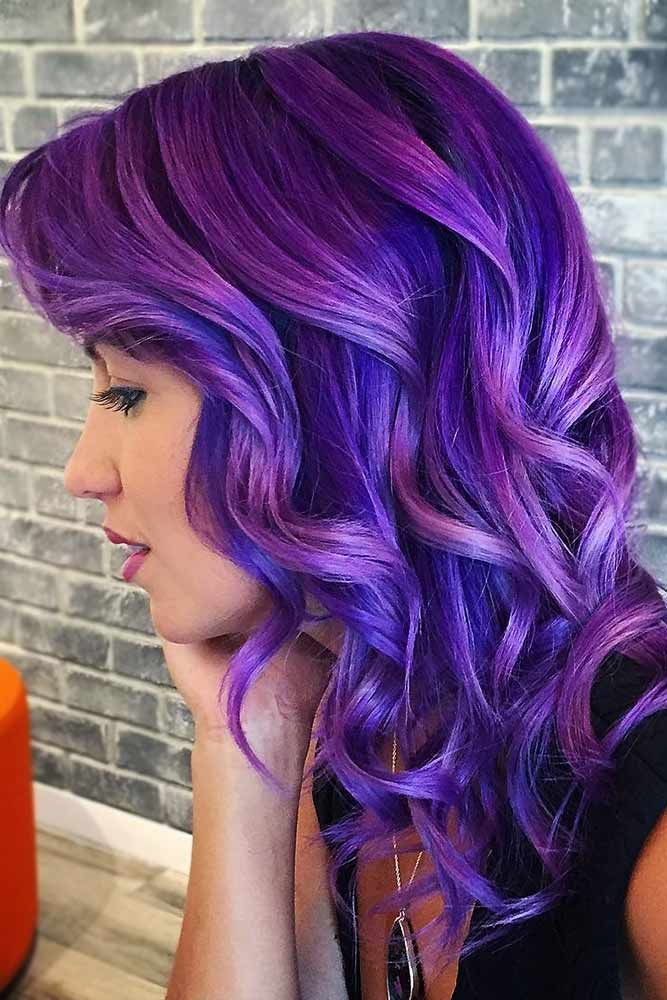 Electric Indigo Ombre #purplehair #bluehair ❤️ A blue hair color will work g...