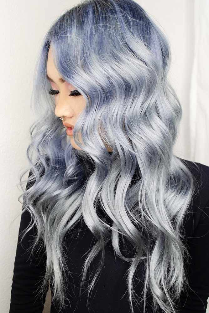 Holographic Denim #holographichair #bluehair ❤️ If you are about to go trend...