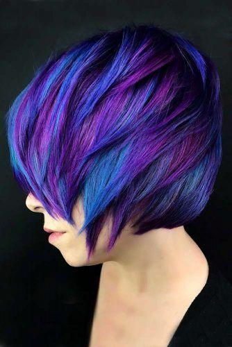Iris Electric Indigo Purple #bluehair #purplehair ❤️ A blue hair color will ...