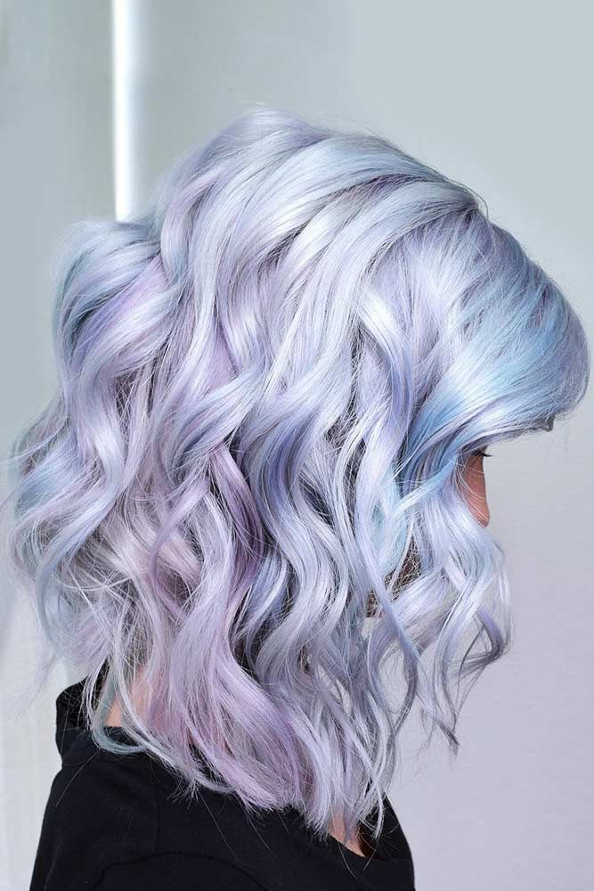 Lavender & Sky Blue Tones #holographichair #bluehair ❤️ If you are about to ...