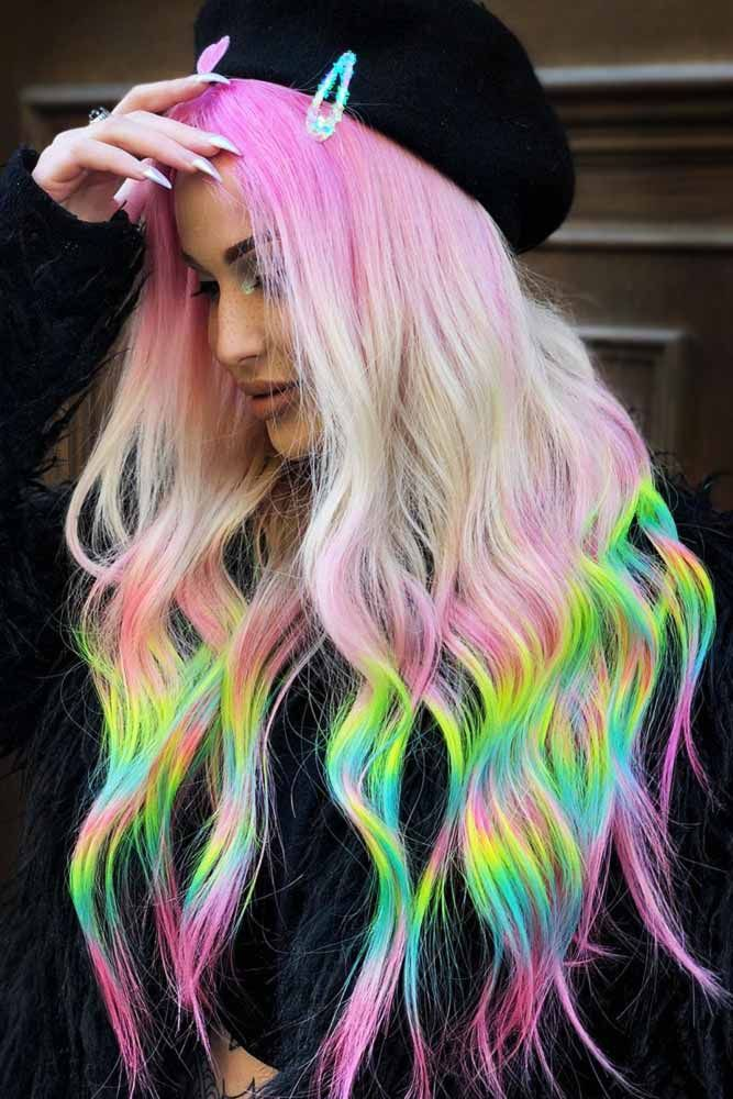 Neon Holographic #holographichair #greenhair ❤️ If you are about to go trend...