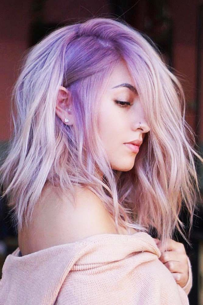 Nude Lavender #lavenderhair #purplehair #ombre ❤️ Lavender hair color is one...