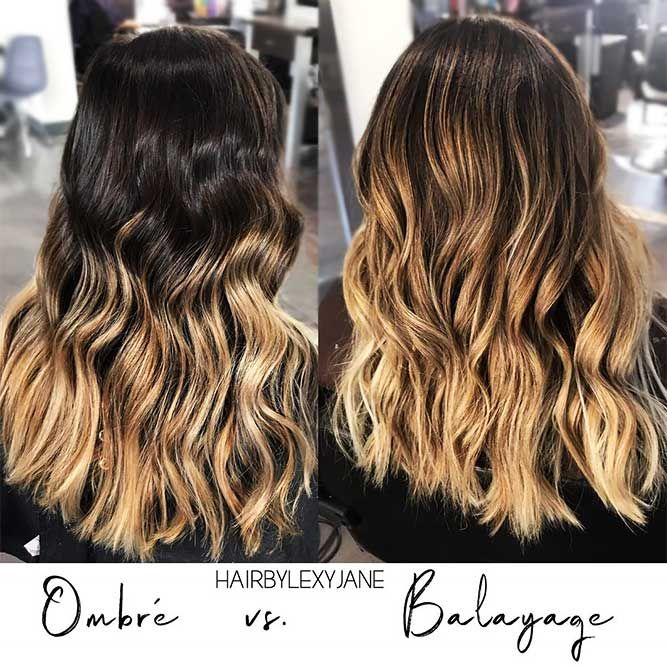 Ombre Vs Balayage Hair #ombre #balayage ❤️ Are you looking for blonde ombre ...