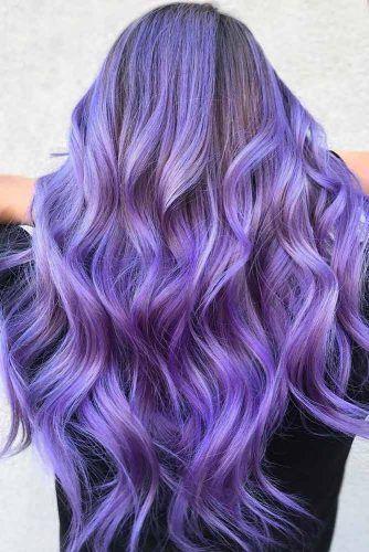 Palatinate Blue Brunette #bluehair #purplehair ❤️ A blue hair color will wor...