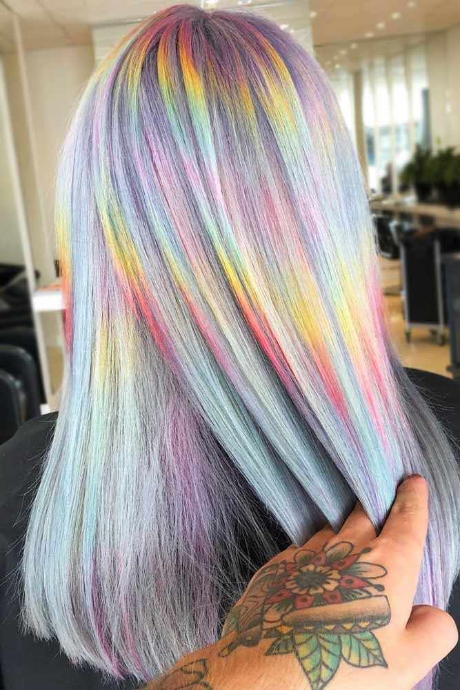 Pastel Rainbow Holographic #holographichair #rainbowhair ❤️ If you are about...