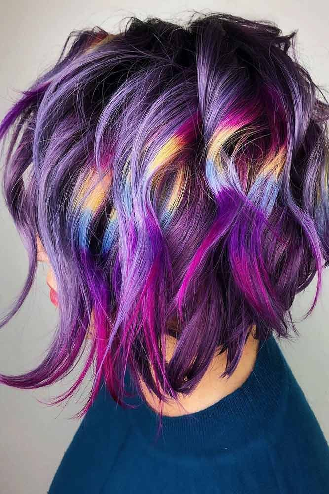 Periwinkle Blue #bluehair #purplehair #rainbowhair ❤️ A blue hair color will...