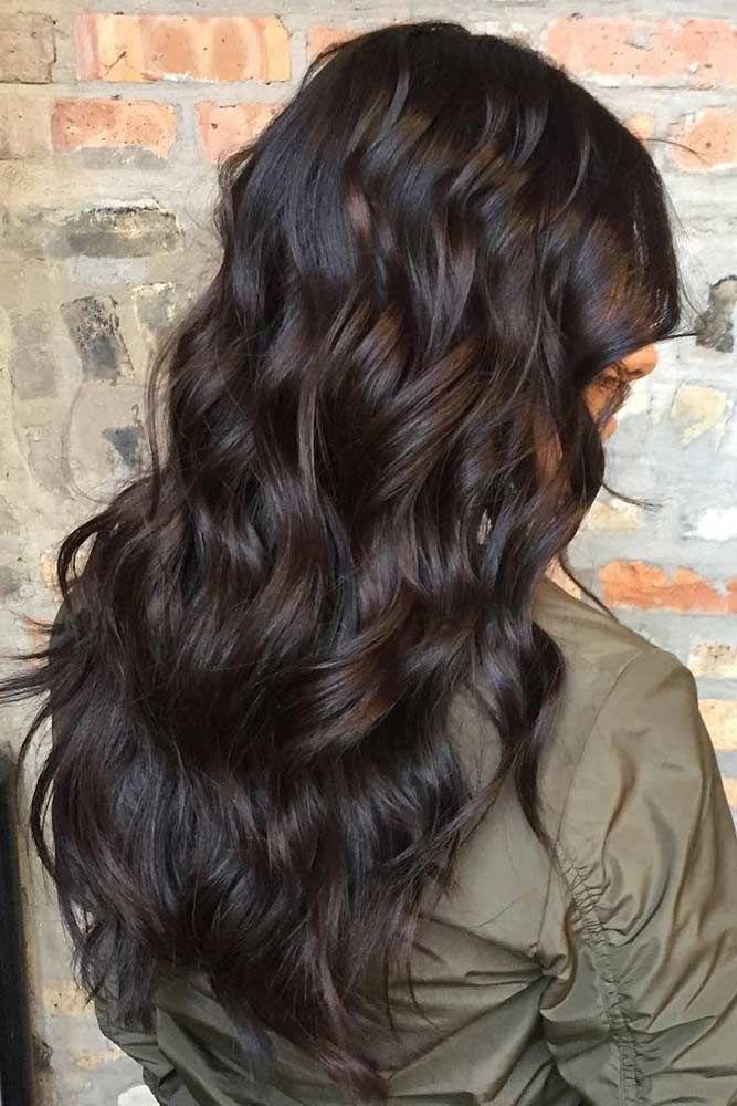 Rich Hue Of Dark Brown Hair Color ❤️ Dark brown hair color looks very myster...