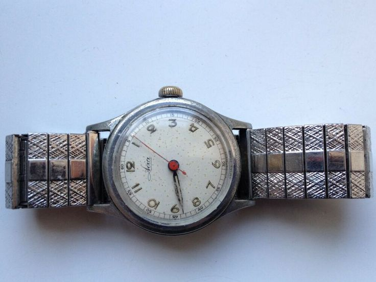MENS VINTAGE AVIA 24 HOUR DIAL SWISS ANTIMAGNETIC MANUAL WIND WATCH SPARES REP