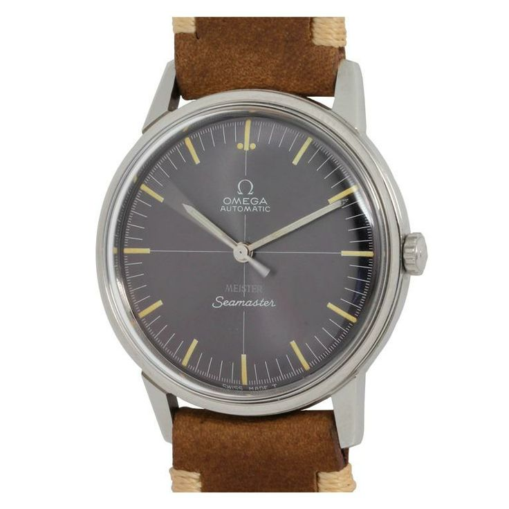 Omega Stainless Steel Seamaster Wristwatch Retailed by Meister circa 1960s #clas...