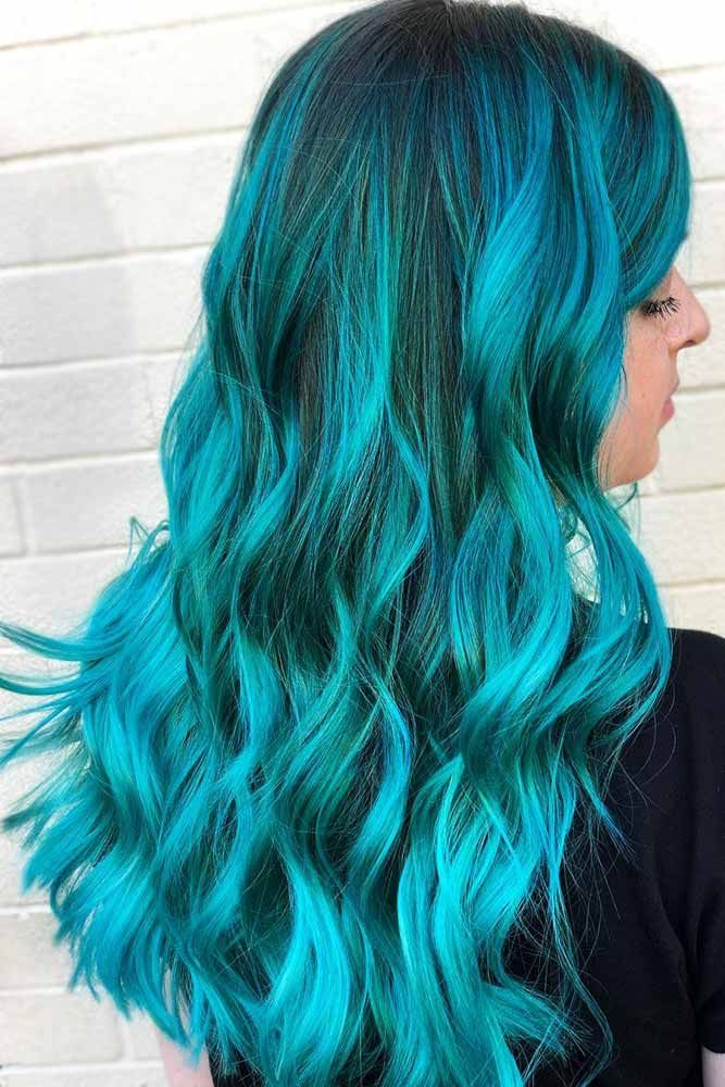 Aquamarine Teal #tealhair ❤️ What can compare to the gorgeous charm of teal ...