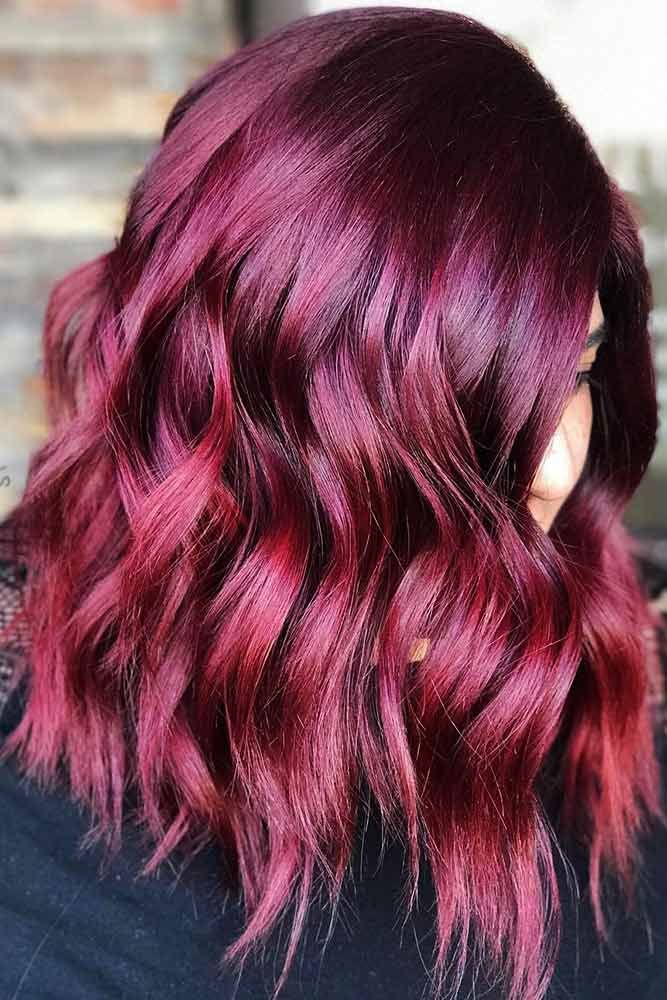Dark Violet Burgundy #purplehair #redhair #balayage ❤️ Dark purple hair is q...