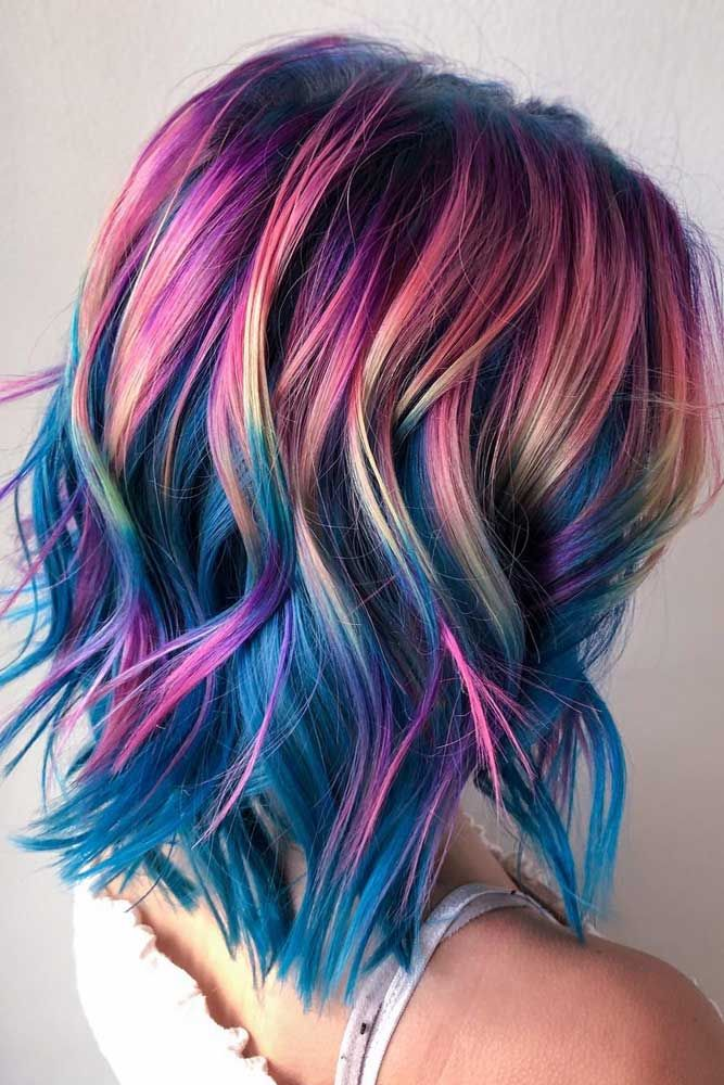 Galaxy Colored Style ❤️ A Brunette Can Look Like A Mermaid, Too! ❤️ Chec...