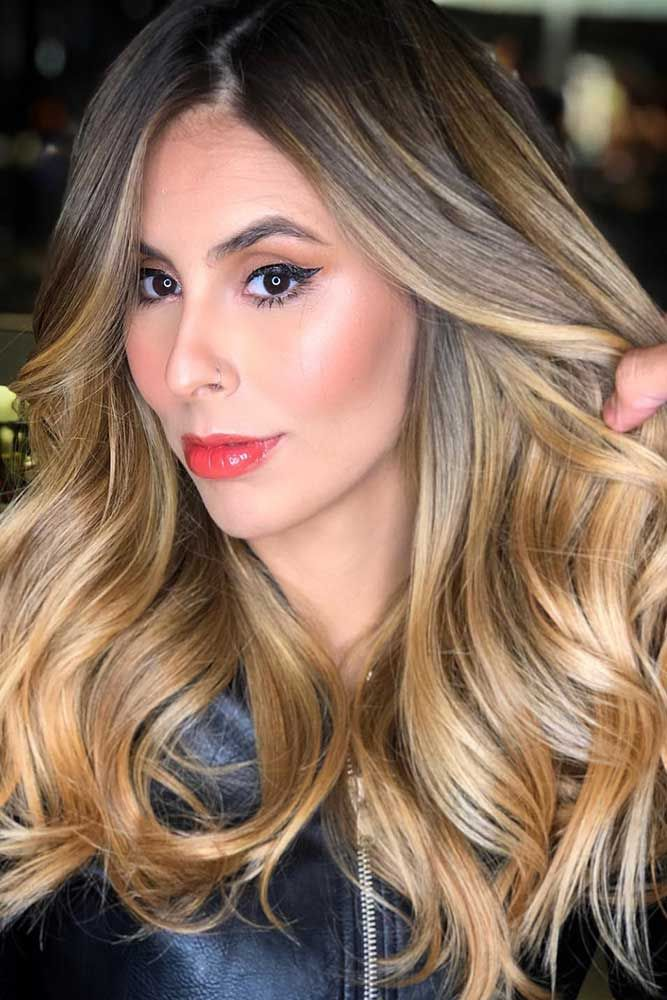 Golden Honey Blonde Balayage #blondehair #balayage #brunette ❤️ Balayage Is ...