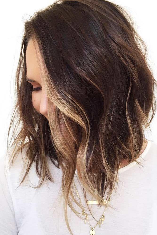 Highlights For Short To Medium Hair Waves #brunette #highlights ❤️ Highlight...