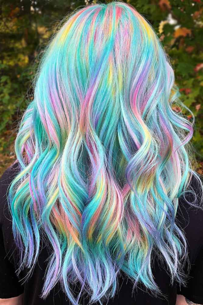 Holographic With Light Teal #tealhair #holographichair ❤️ What can compare t...