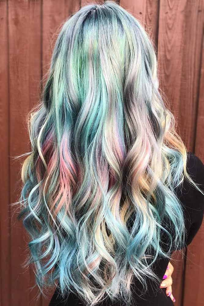 Iridescent Glacier #holographichair ❤️ If you are about to go trendy, hologr...