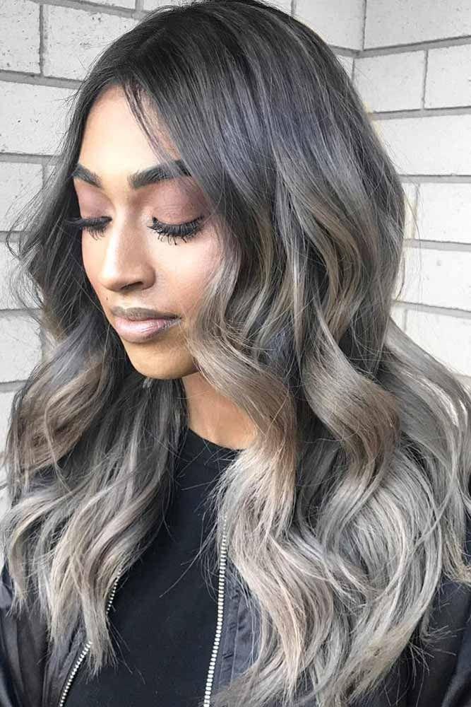 Long Ash Grey Hair #greyombrehair #haircolor #ombrehair ❤️ Grey ombre hair r...