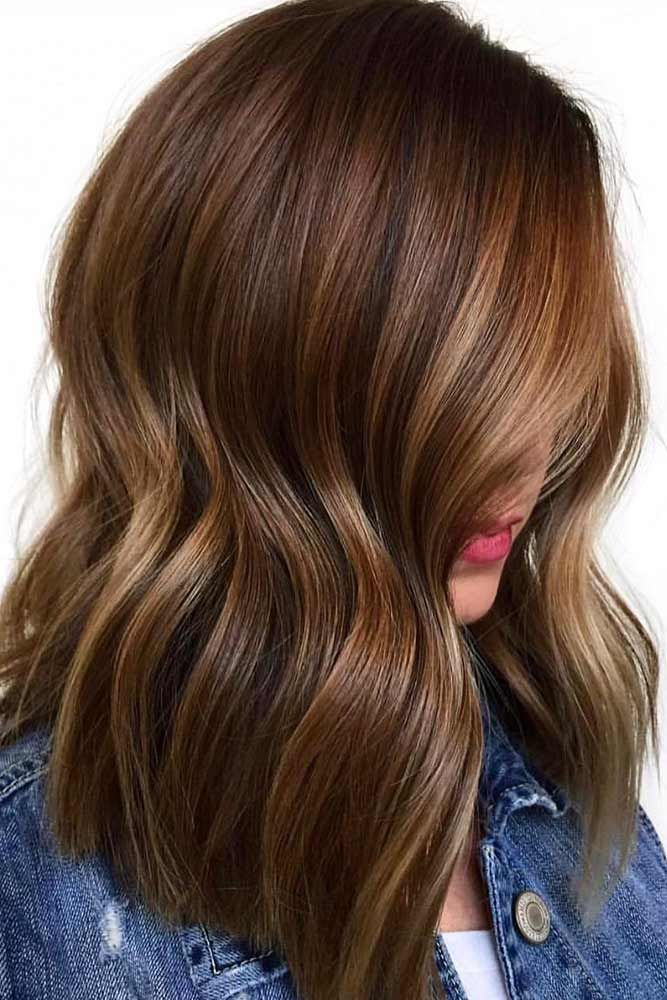 Long Brown Highlighted Hair #brunette #highlights ❤️ Highlighted hair is rea...