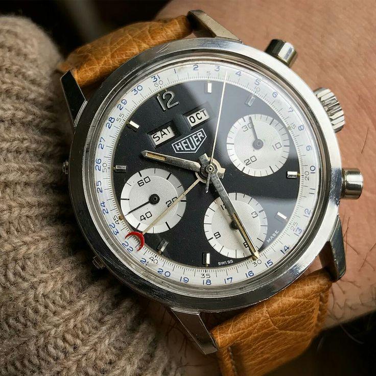 Heuer Carrera 12 2547NS triple calendar chronograph