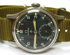 Watches Ideas CAMO COOL_Vintage Royal British Army watch by Omega