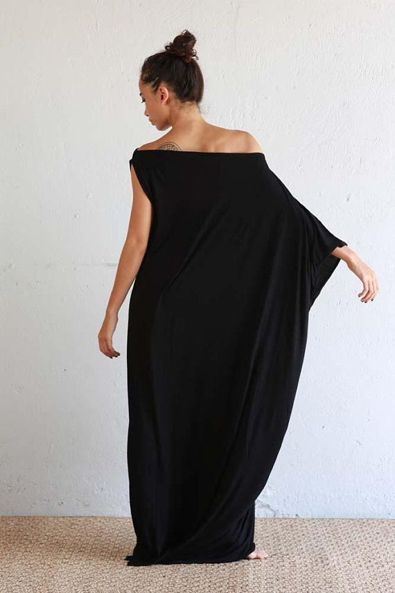 Black Kaftan Dress Beach Kaftan Maxi Dress Boho Dress