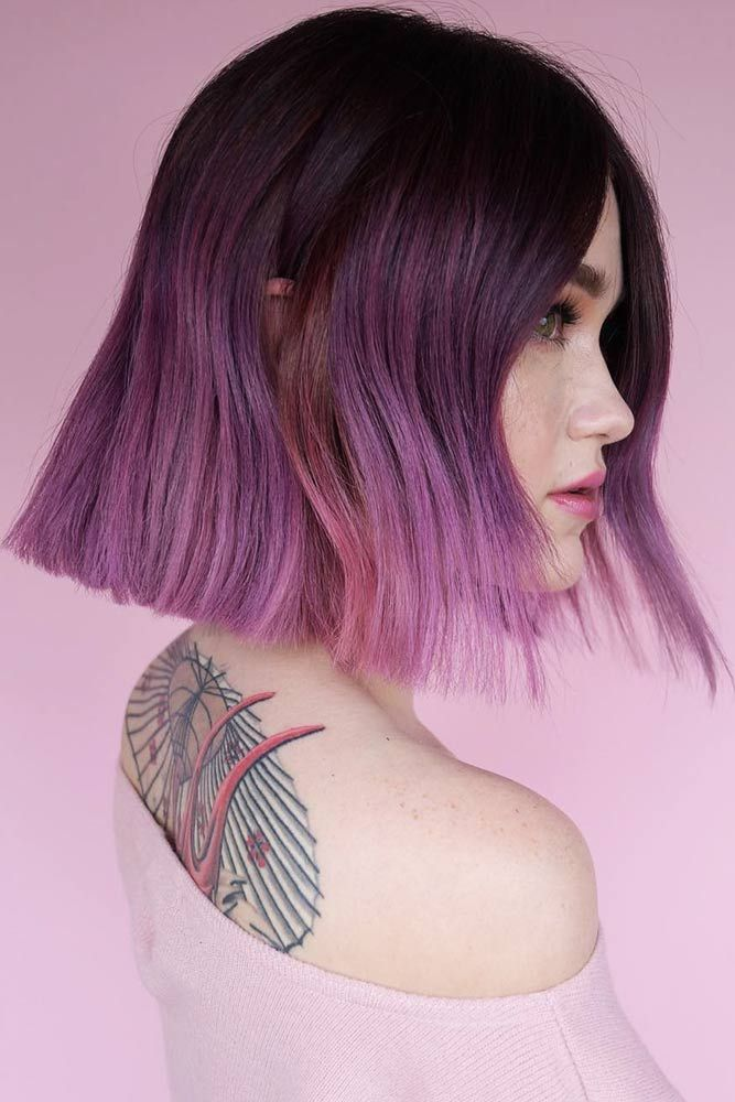Amethyst Dark Purple Hair Ombre #purplehair #ombre ❤️ Dark purple hair is qu...