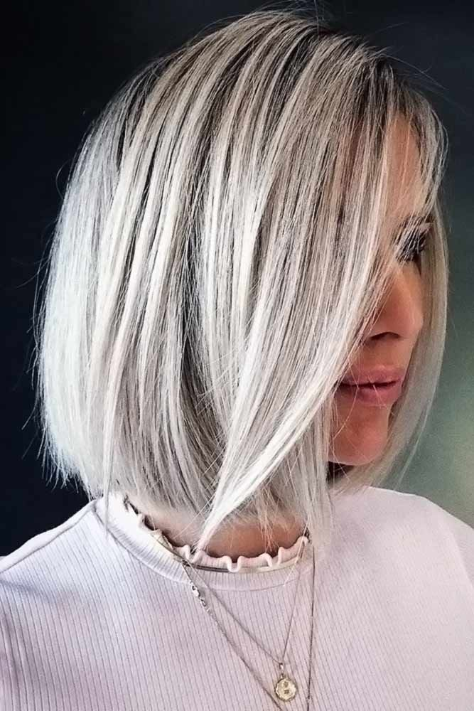 Blonde Balayage Blunt Bob #blondehair #bob ❤️ Blonde hair colors will never ...