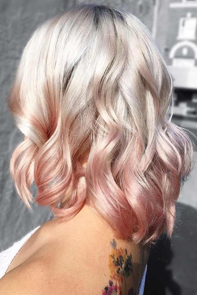 Blonde To Strawberry Ombre #blondehair #ombre ❤️ Try platinum blonde hair sh...