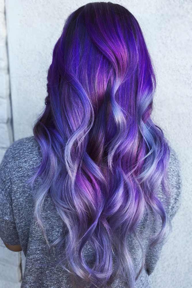 Blue Purple Balayage #purplehair #balayage ❤️ Dark purple hair is quite bold...