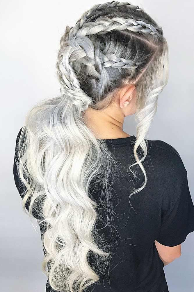 Braided Ponytail In Honor Of Game Of Thrones #braids #blondehair ❤️ Try plat...