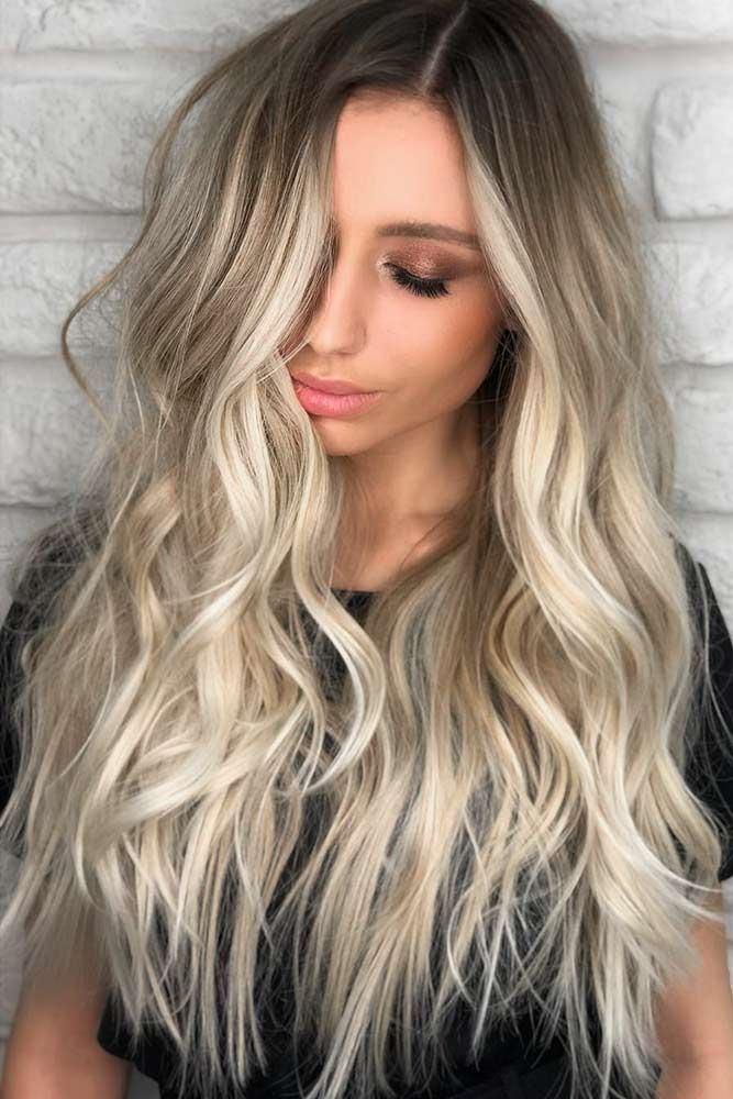 Brown To Platinum Blonde Ombre #blondehair #ombre ❤️ Try platinum blonde hai...