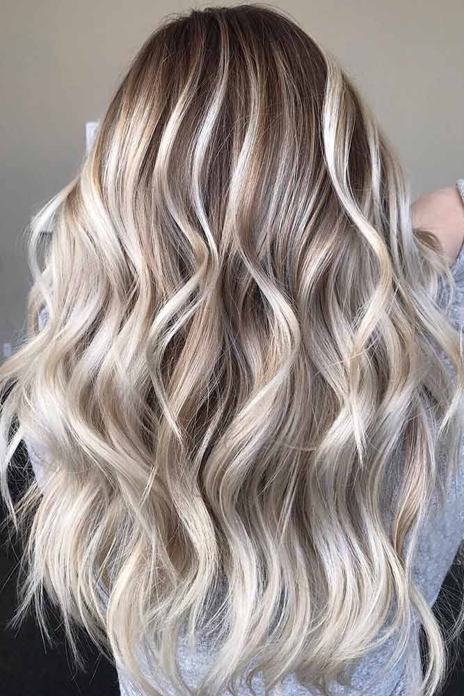 Brunette With Blonde Highlights ❤️ Try platinum blonde hair shade if you wan...