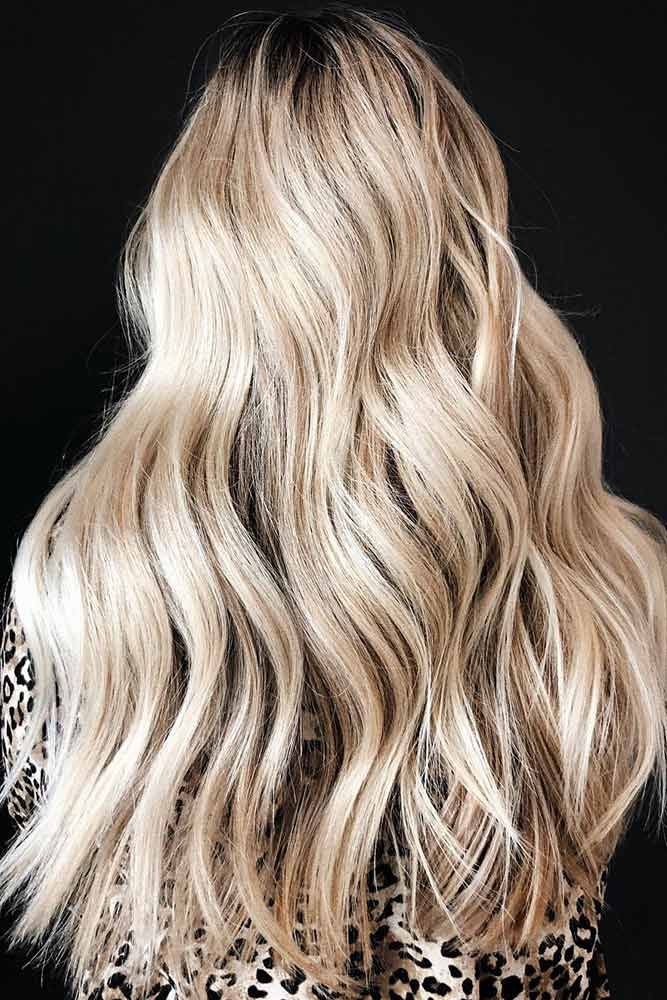 Champagne With Lowlights #lowlights ❤️ If you want to make your hair color d...
