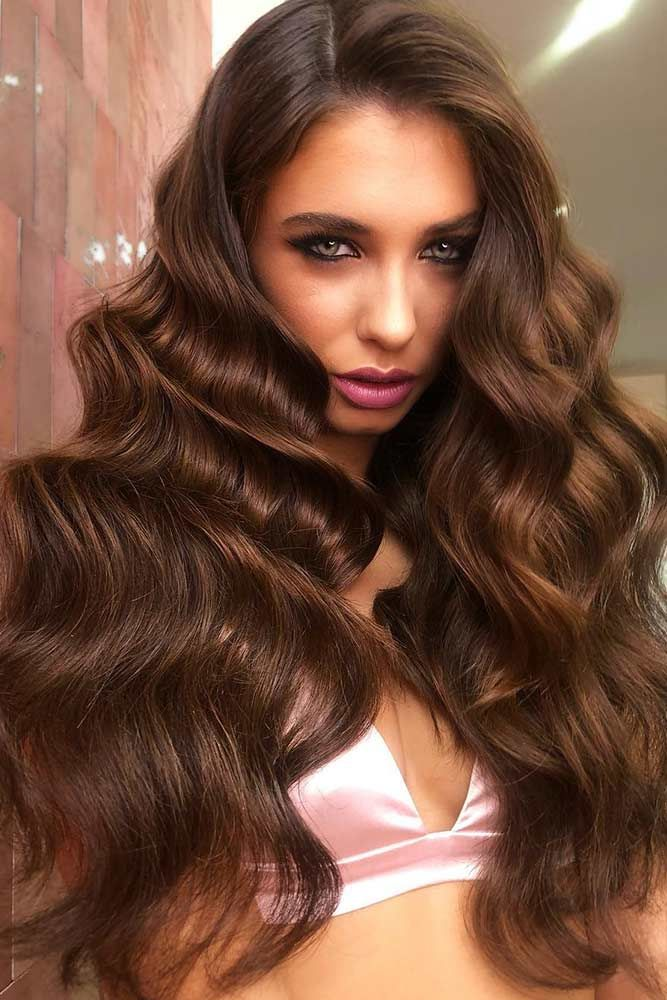 Chocolate Brown Lowlights ❤️ If you want to make your hair color deeper, low...