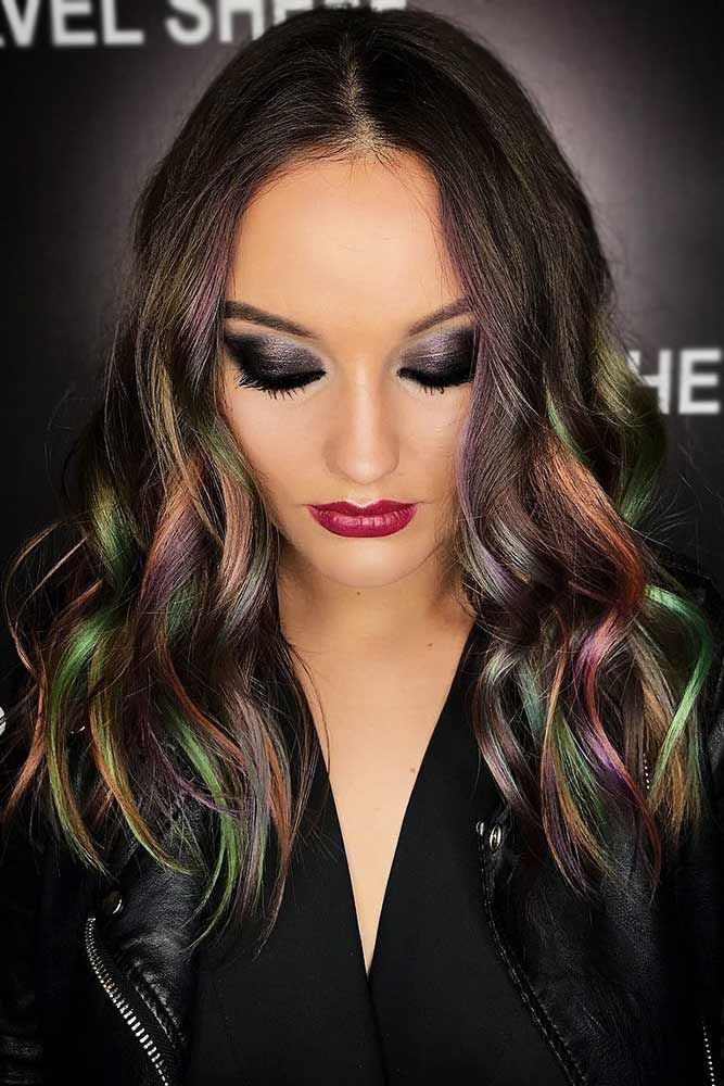Colorful Highlights #brunette #highlights ❤️ Do you know how awesomely you c...